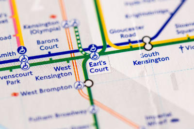 West Kensignton tube map